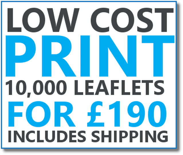 Low cost leaflet printing